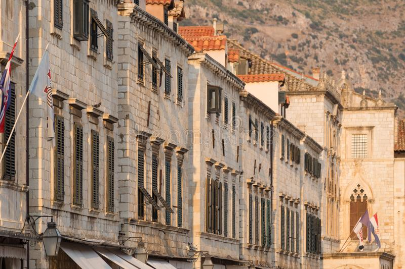 Dubrovnik scenic view of the city`s buildings royalty free stock images