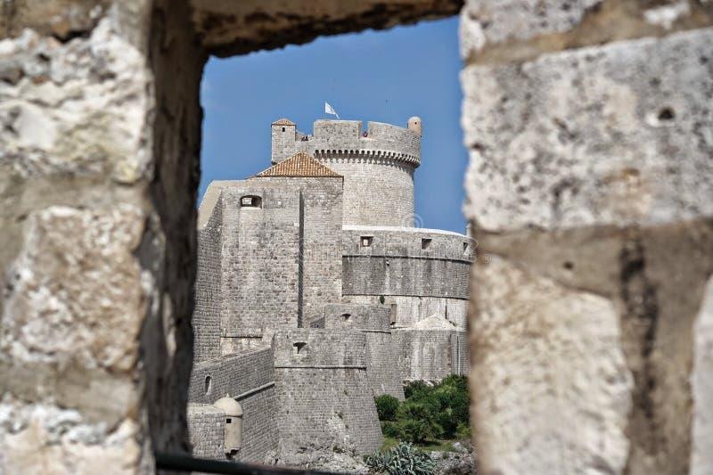 Dubrovnik - Stadsmuren stock foto's