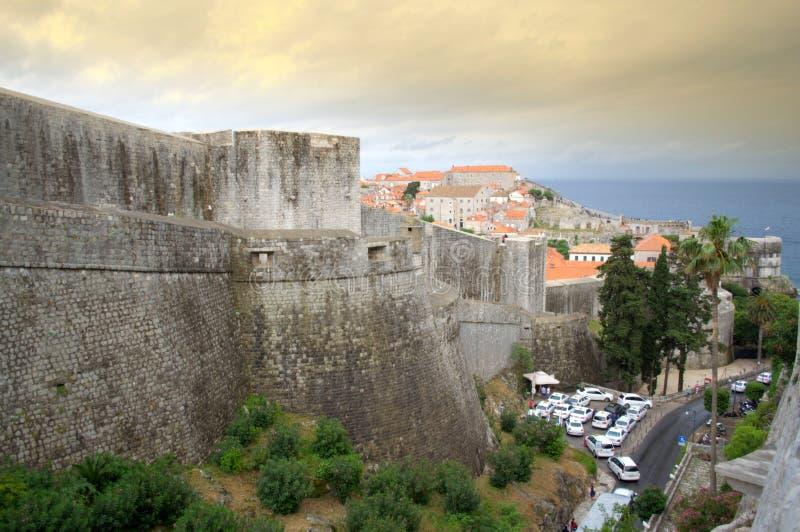 Dubrovnik Stare ściany zdjęcia stock
