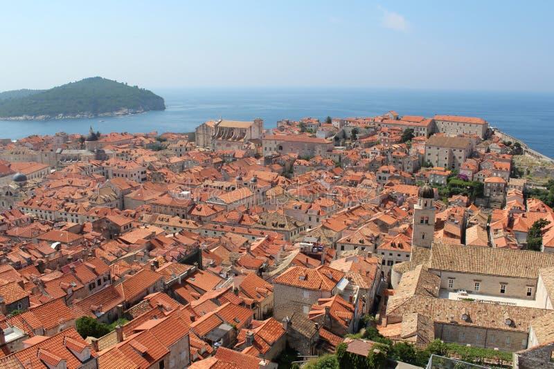 dubrovnik starego miasta Lokrum wyspa zdjęcie stock