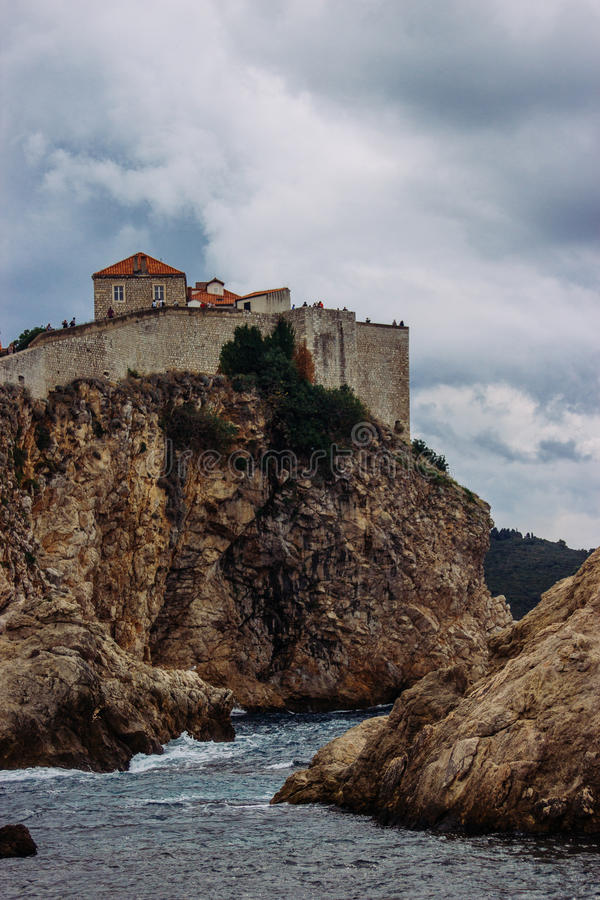 Dubrovnik. The stone city walls in Dubrovnik (Croatia) where the TV Series The Game of Thrones is being shot stock photography