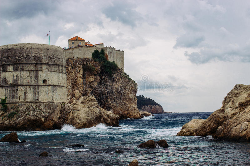 Dubrovnik. The stone city walls in Dubrovnik (Croatia) where the TV Series The Game of Thrones is being shot stock images