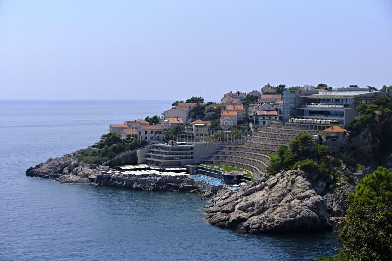 Dubrovnik toevlucht in de Adriatische Zee stock foto's