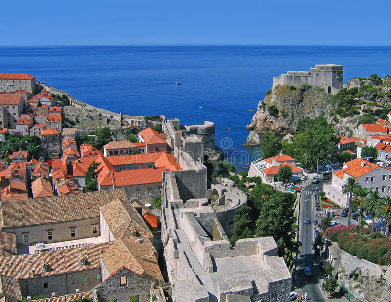 Dubrovnik from tower royalty free stock photography