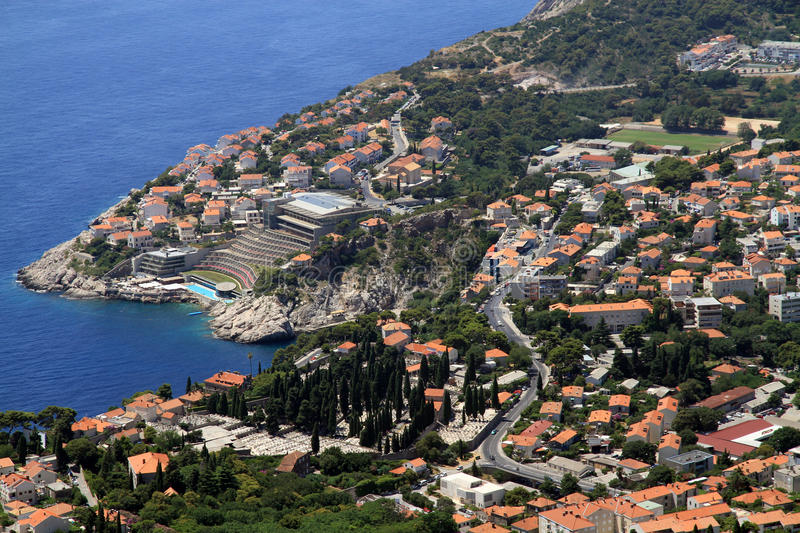 Download Dubrovnik town stock image. Image of coast, hill, architecture - 27320939