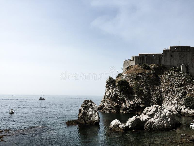 Dubrovnik vägg - Kroatien royaltyfri fotografi