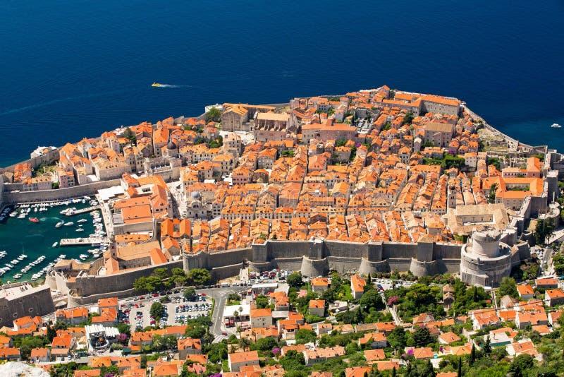 Dubrovnik von oben stockfotografie