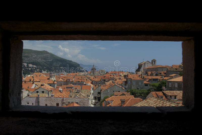 Dubrovnik from the walls royalty free stock images