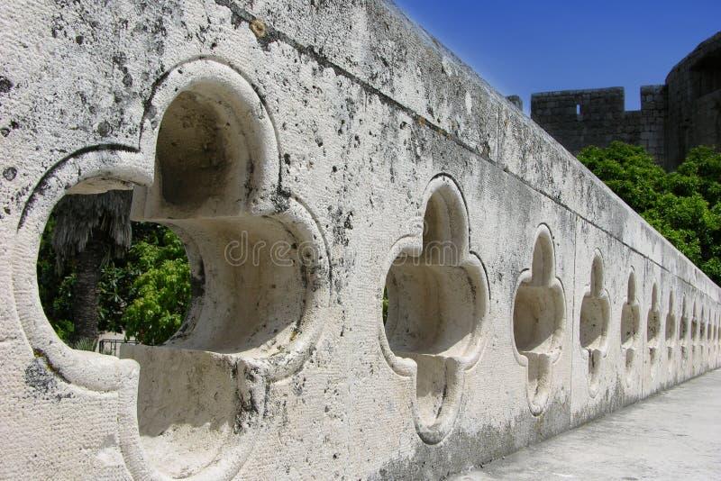 Dubrovnik-Zaun lizenzfreie stockbilder