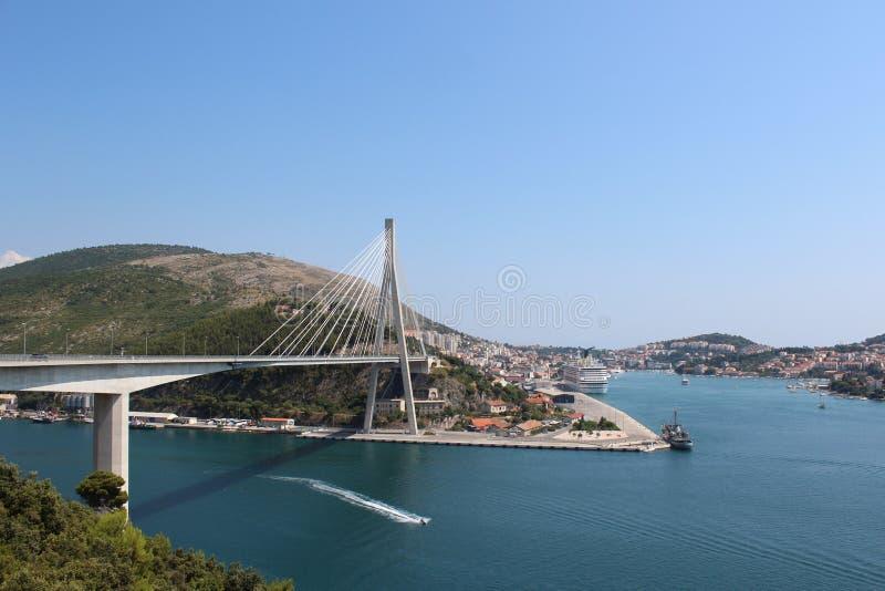 Dubrovnikbrug stock fotografie