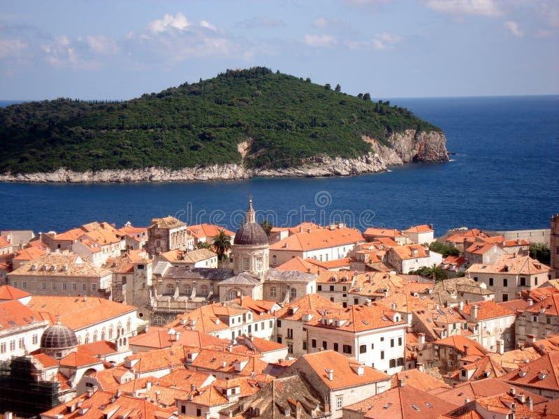 Dubrovnikdaken - Kroatië stock foto's