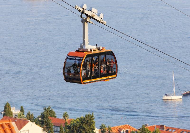 Dubrovnikkabelwagen stock foto