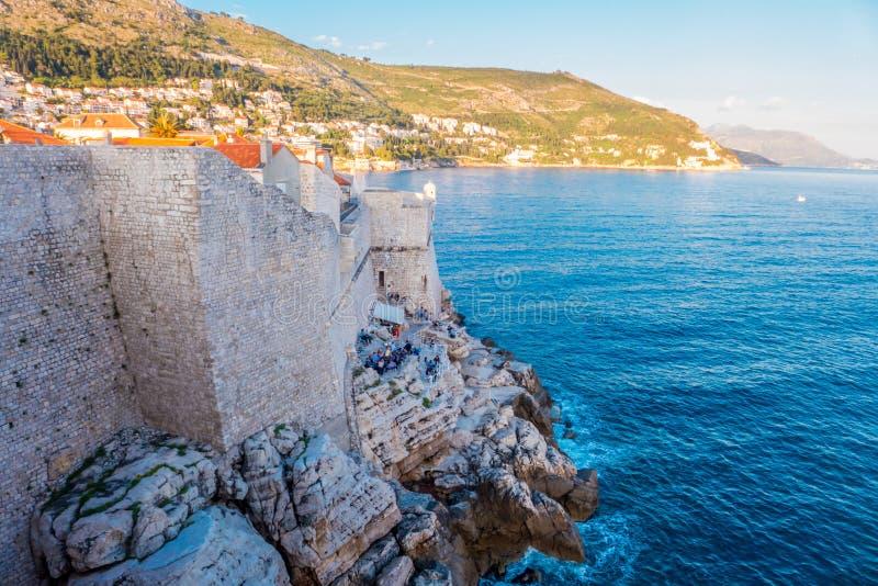 Dubrovnikmuren royalty-vrije stock foto's