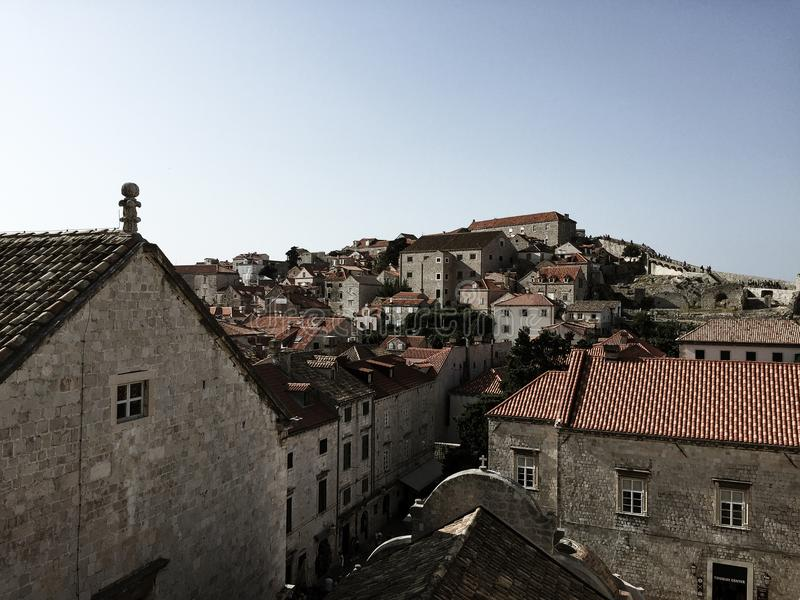 Dubrovnikmuur - Kroatië royalty-vrije stock foto