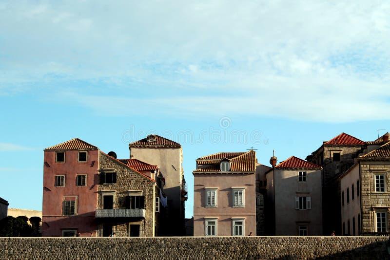 Dubrovniks-Häuser lizenzfreie stockfotografie