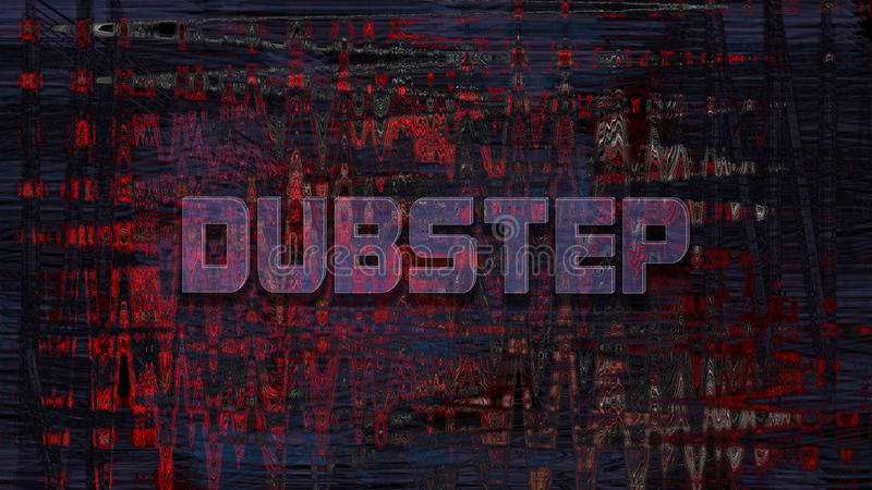 Dubstep, 3D rendering obrazy royalty free