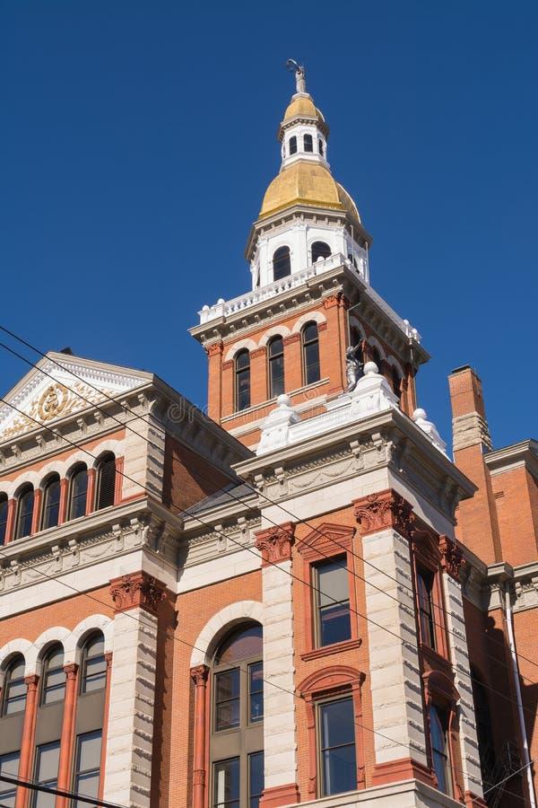 Dubuque County domstolsbyggnad arkivbild