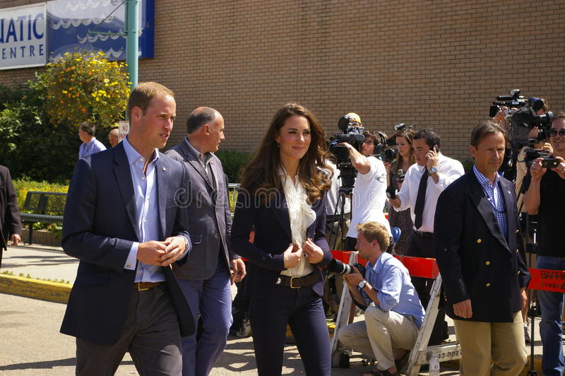Duc et duchesse de Cambridge-William et de Kate images stock