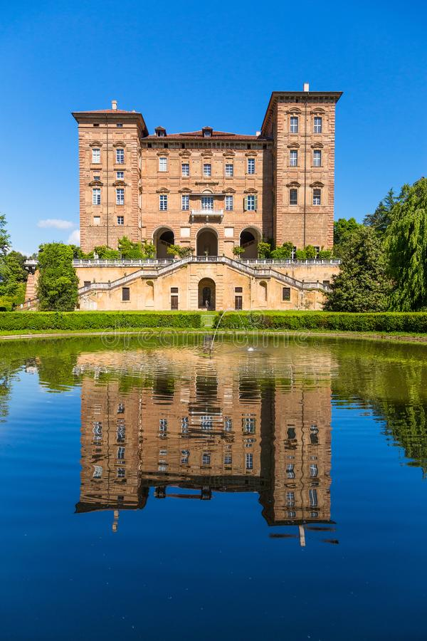 Ducal Aglie` castle, in Piedmont, Italy. royalty free stock photography