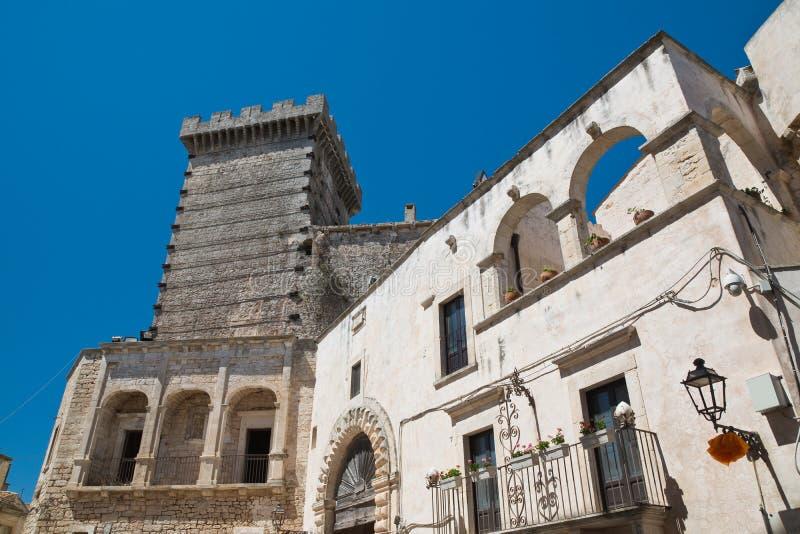 Ducal castle. Ceglie Messapica. Puglia. Italy. stock photo