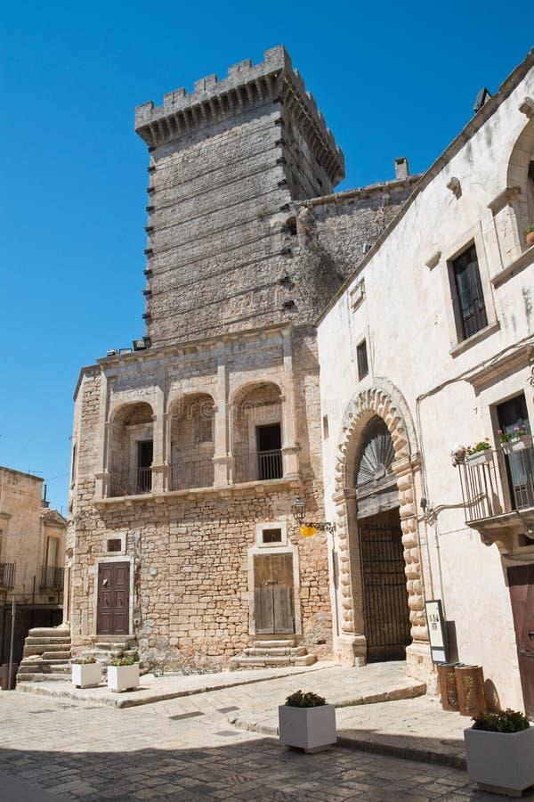 Ducal castle. Ceglie Messapica. Puglia. Italy. stock images