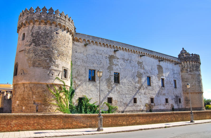 Ducal Castle of Torremaggiore. Puglia. Italy. stock photos