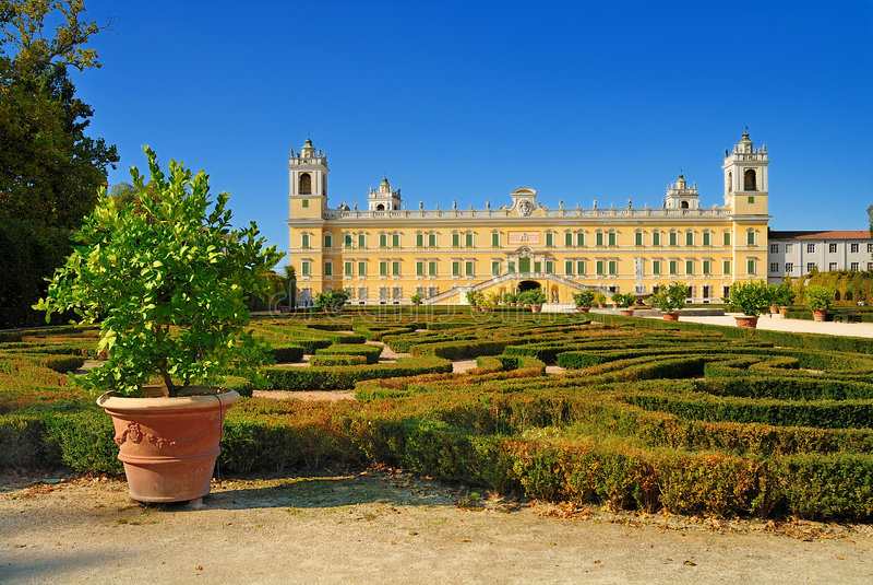 ducal slott för colorno royaltyfria foton
