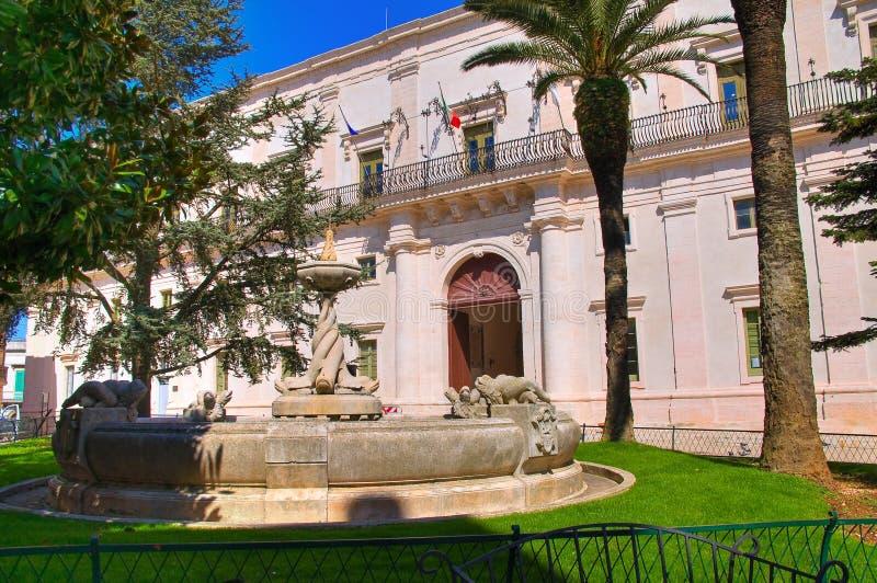ducal slott Martina Franca Puglia italy royaltyfri fotografi