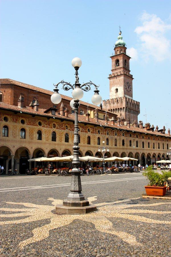 Download The Ducal Square Of Vigevano Stock Image - Image: 5602067