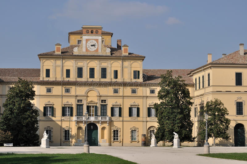 Ducale palace, parma. View of farnese palace and his park in parma city center royalty free stock images