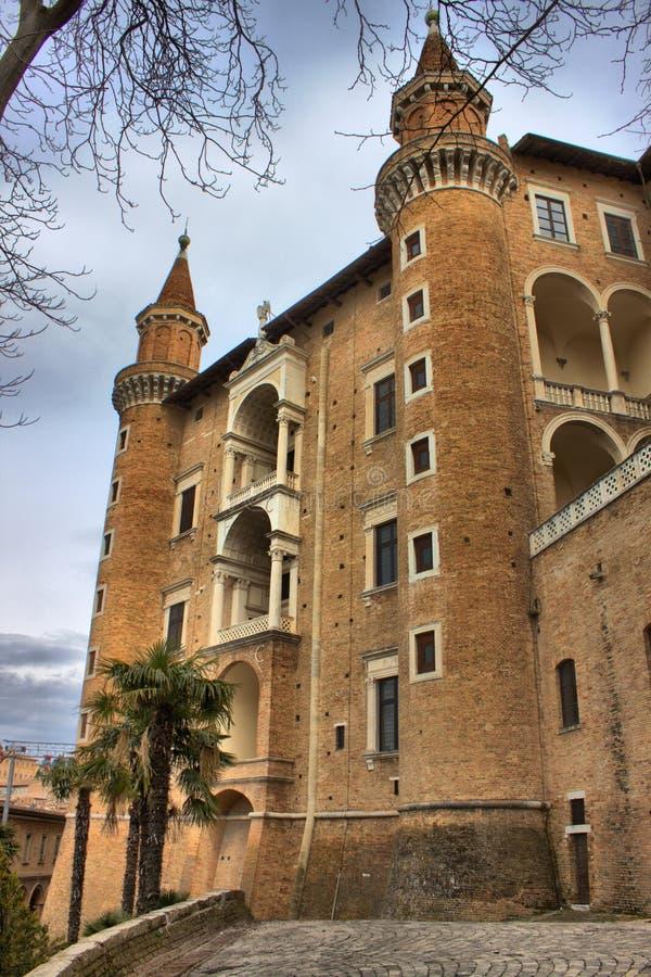 ducale palazzo Urbino fotografia stock