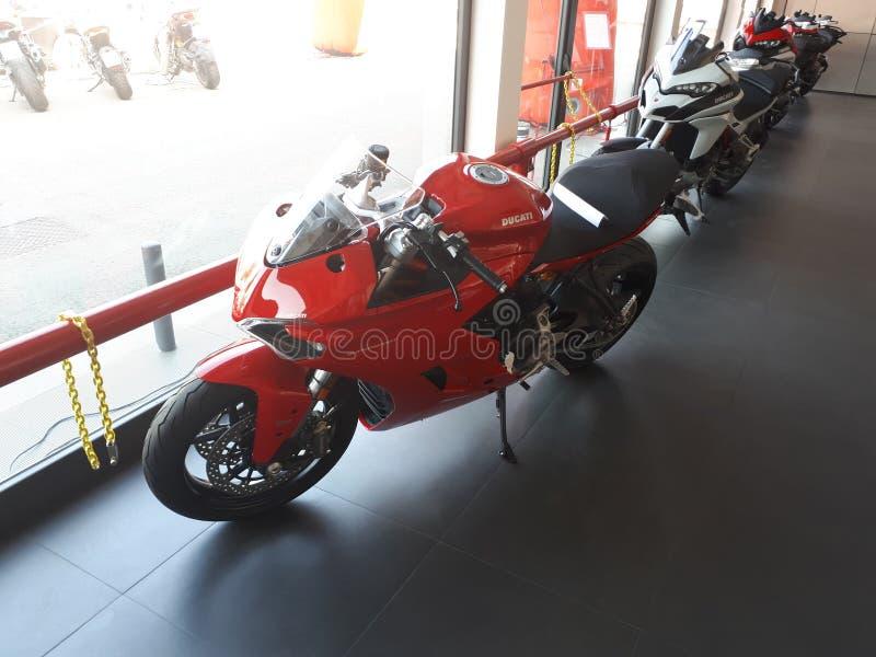 Ducati-Motorrad-Sport Superbike stockfotografie