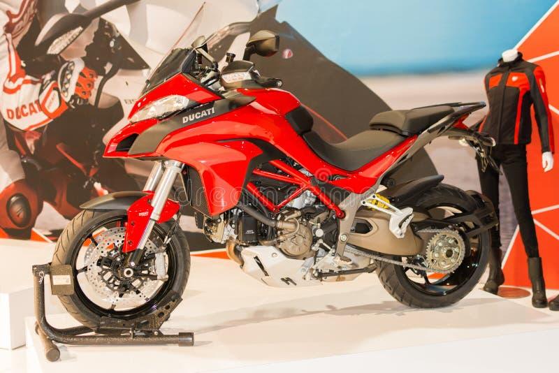 Ducati Multistrada 1200 - van 2015 motorfiets royalty-vrije stock fotografie