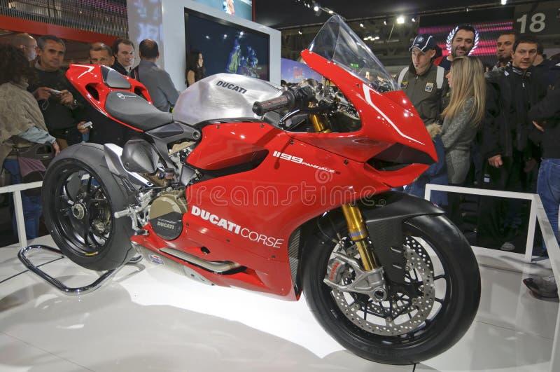 Ducati Panigale 1199 dans EICMA 2011 photos libres de droits