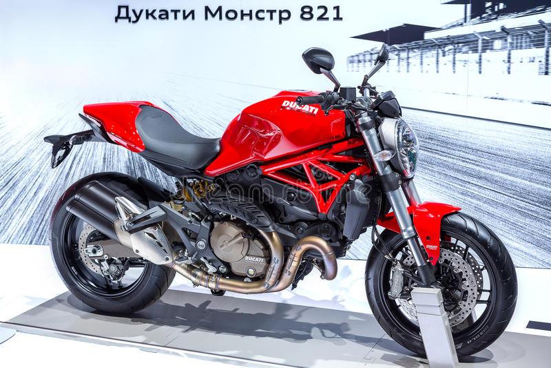 Ducati potwór 821 zdjęcia royalty free