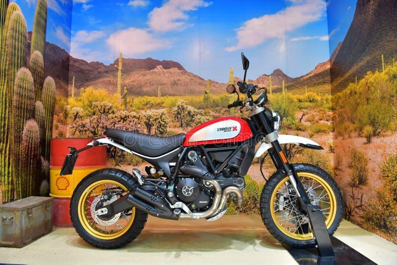 Ducati Scrambler motocykl w Bangkok Międzynarodowy Tajlandia Mo fotografia royalty free