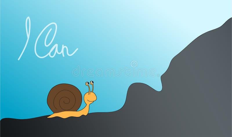 Duch ślimaczek ilustracja wektor