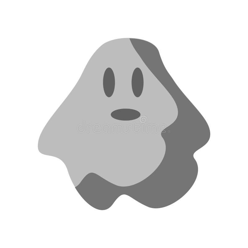 Duch ikony wektor odizolowywający na białym tle, ducha znak, col ilustracji