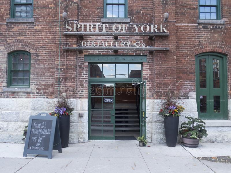 Duch Jork destylarnia w destylarnia okręgu, Toronto zdjęcia stock