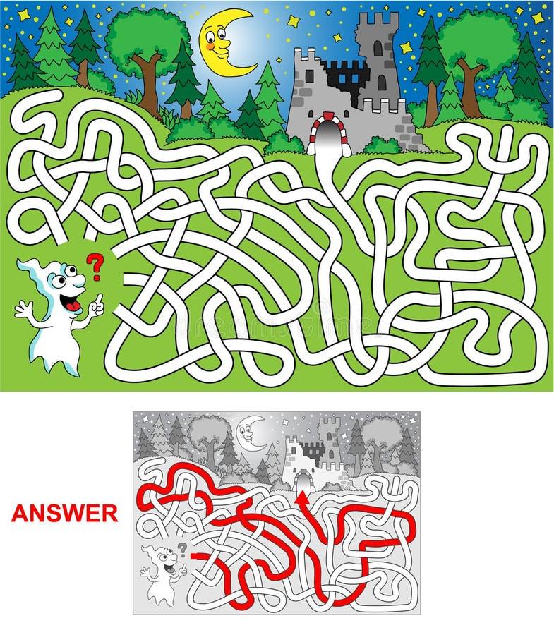 Duch (krajobraz) royalty ilustracja