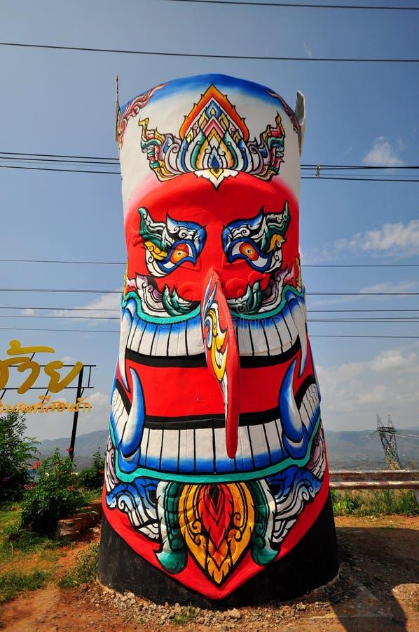 Duch maskowa statua zdjęcie royalty free