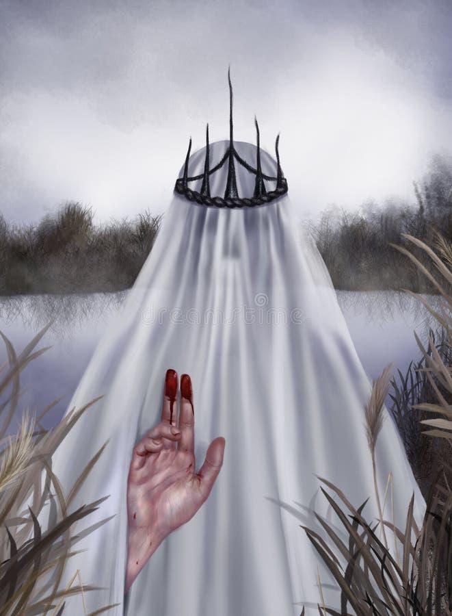 Duch rzeka royalty ilustracja