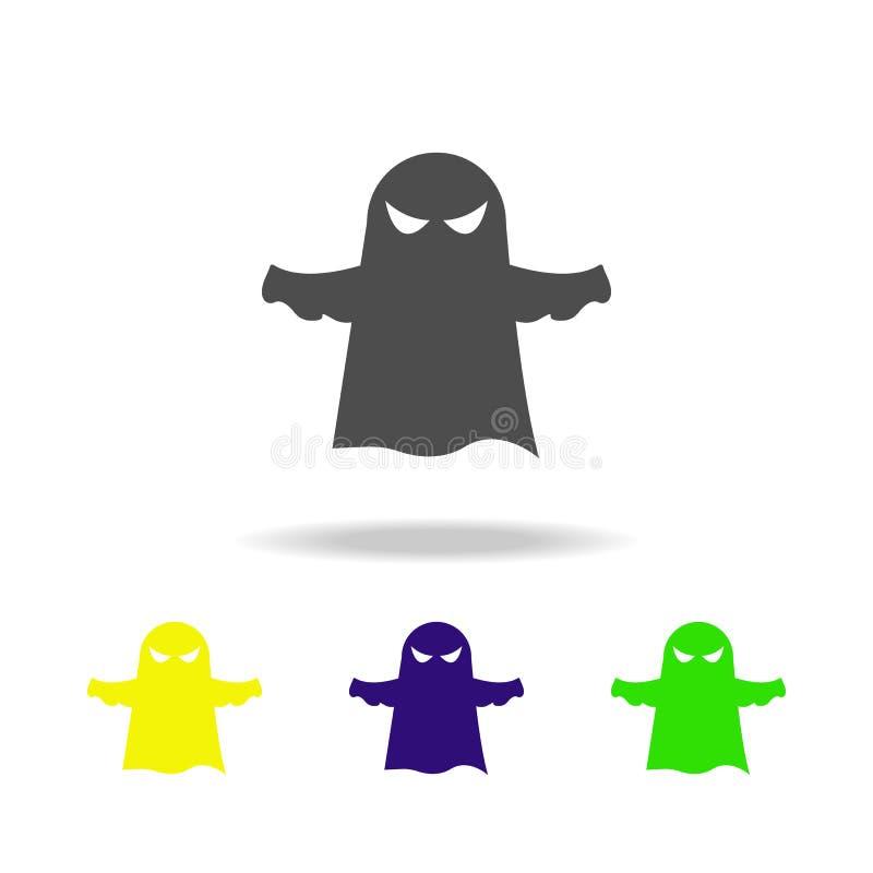 Duch stubarwna ikona Element duchów elementy ilustracyjni Znaki i symbol ikona mogą używać dla sieci, logo, mobilny app, UI ilustracja wektor