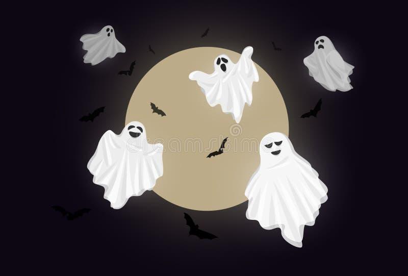 Duch tkaniny okładkowy biel Halloween zdjęcia stock