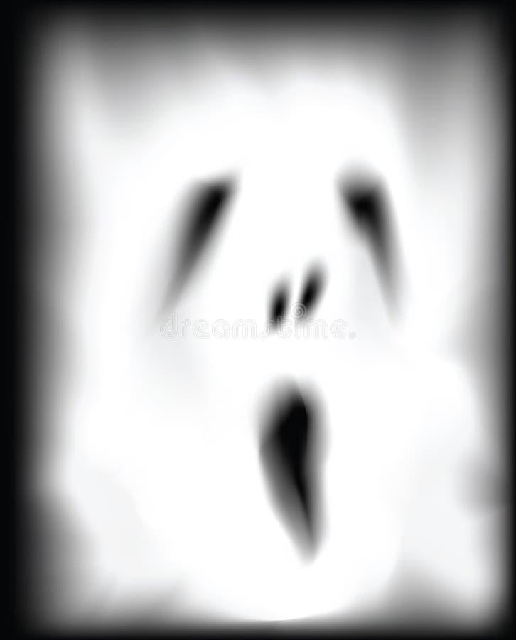 Duch twarz ilustracja wektor