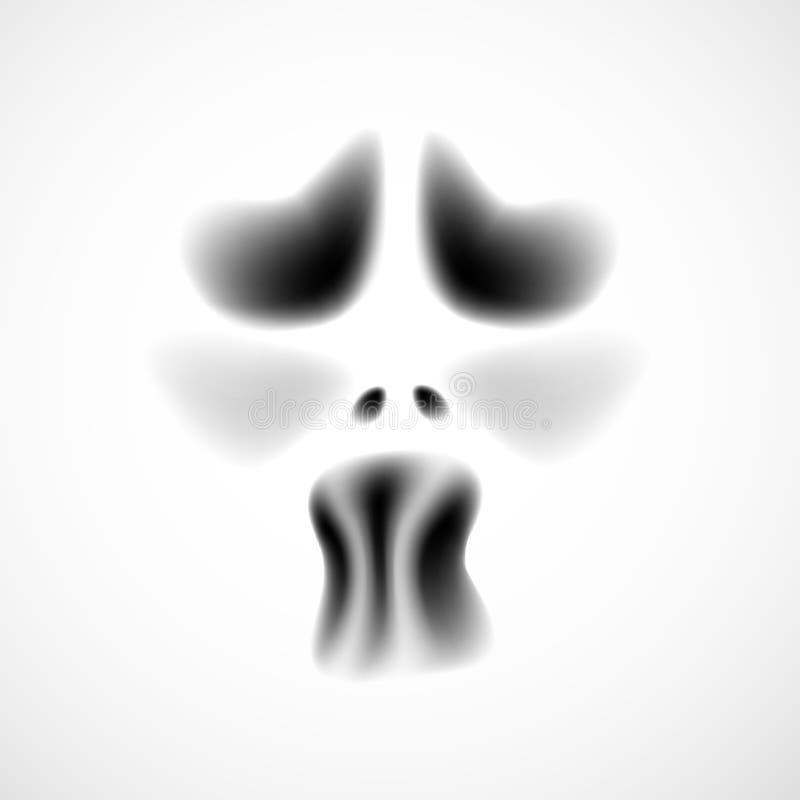 duch twarz ilustracji