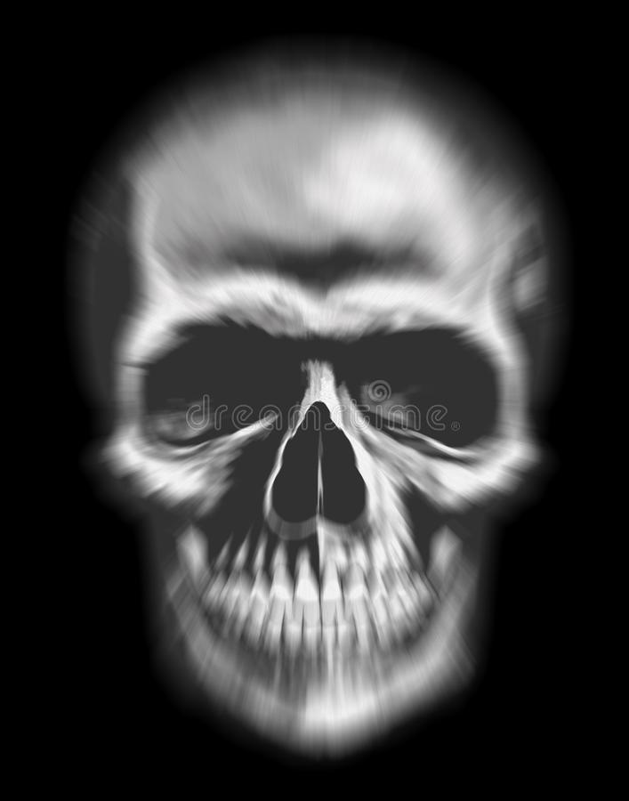 Duch twarz, zamazana czaszka, ilustracja ilustracji