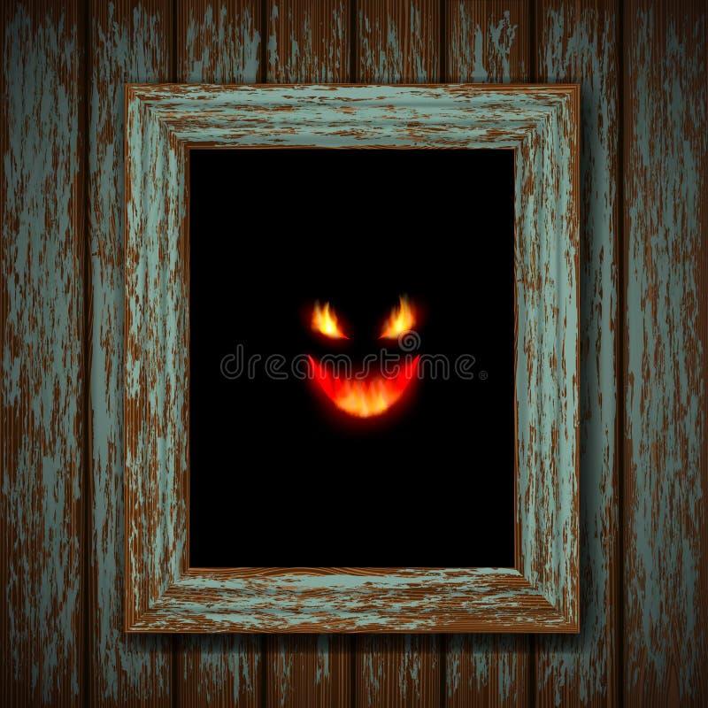 Duch w okno ilustracja wektor