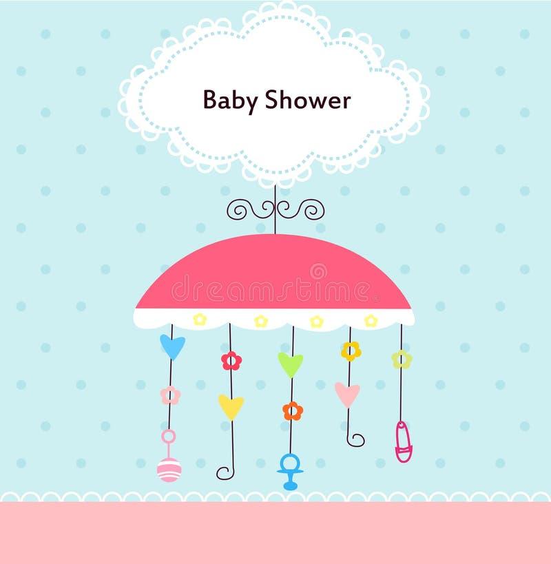 Ducha de bebé ilustración del vector