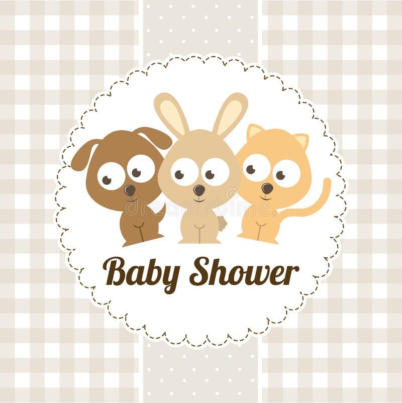 Download Ducha de bebé ilustración del vector. Ilustración de ducha - 42427073
